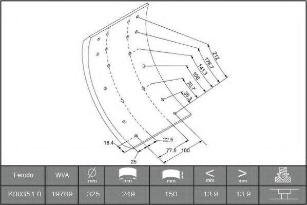 Купить Накладки тормозные FERODO K003510F3529