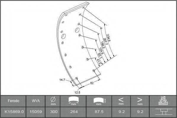 Купить Накладки тормозные FERODO K158690F3658