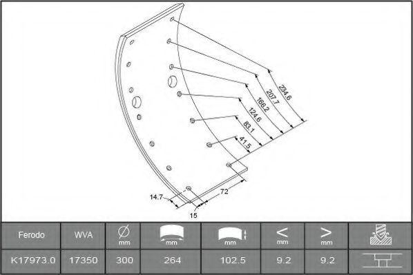 Накладки тормозные FERODO K179730F3658  - купить со скидкой