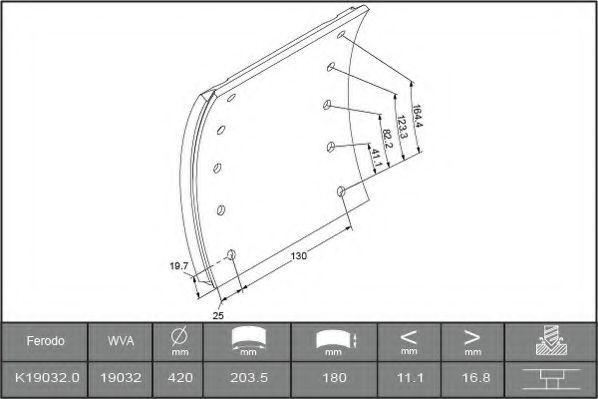 Купить Колодки тормозные FERODO K190320F3532