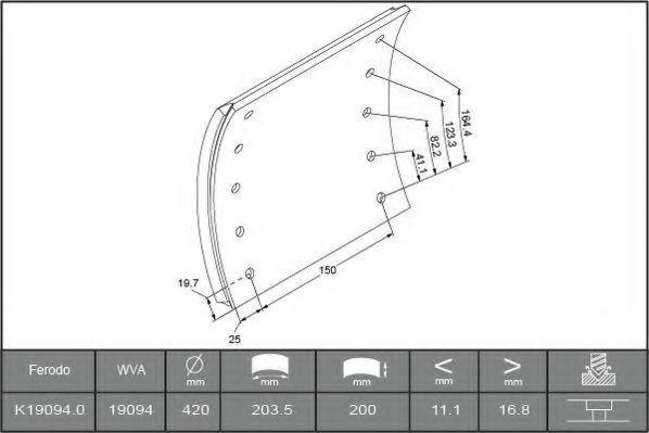 Купить Накладки тормозные FERODO K190940F3532