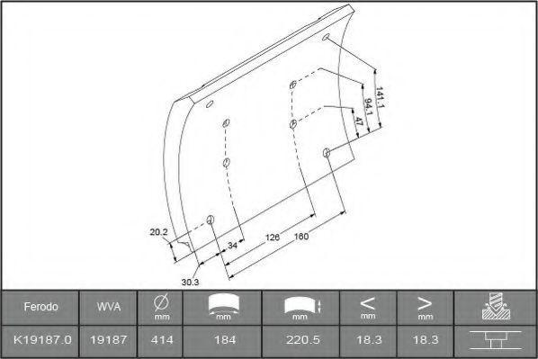 Купить Накладки тормозные FERODO K191870F3658