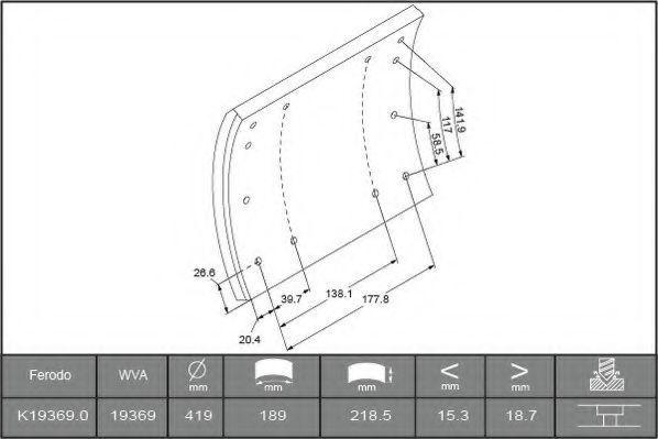 Купить Накладки тормозные FERODO K193690F3664