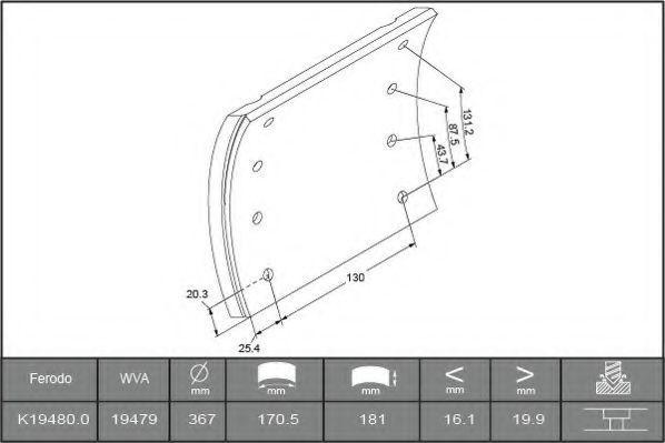 Купить Накладки тормозные FERODO K194800F3658