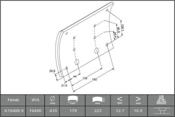 Купить Накладки тормозные FERODO K194880F3744