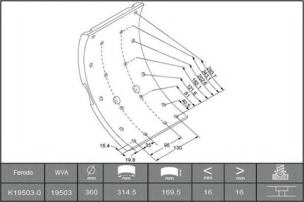 Купить Накладки тормозные FERODO K195030F3653