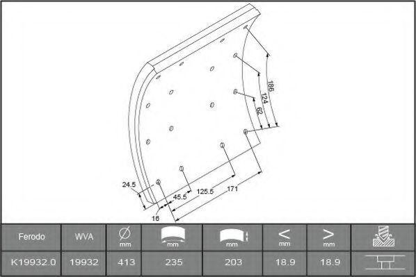 Купить Накладки тормозные FERODO K199320F3745