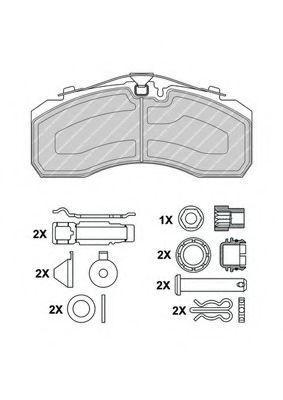 Колодка тормозная грузовая FERODO FCV4296PTS