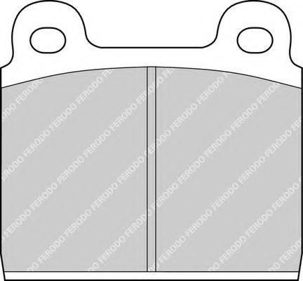 Комплект тормозных колодок, дисковый тормоз FERODO FDB11