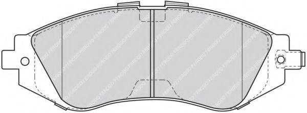 Колодки тормозные передние FERODO FDB1116
