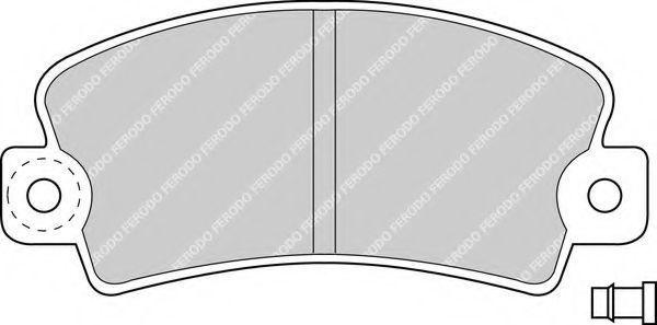 Комплект тормозных колодок, дисковый тормоз FERODO FDB113