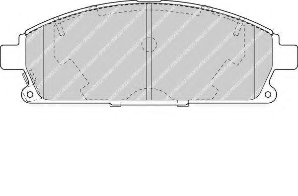 Изображение Колодки тормозные FERODO FDB1263: описание