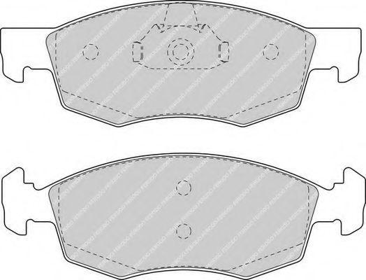 Колодки тормозные передние FERODO FDB1376