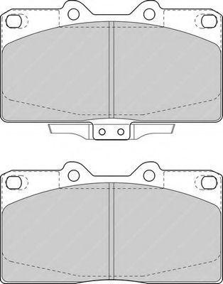 Комплект тормозных колодок, дисковый тормоз FERODO FDB1448