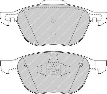 Колодки тормозные FERODO FDB1594