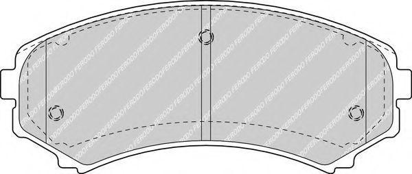 Колодки тормозные передние FERODO FDB1603