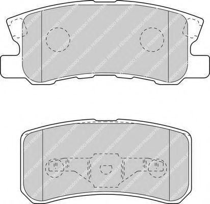 Колодки тормозные задние FERODO FDB1604