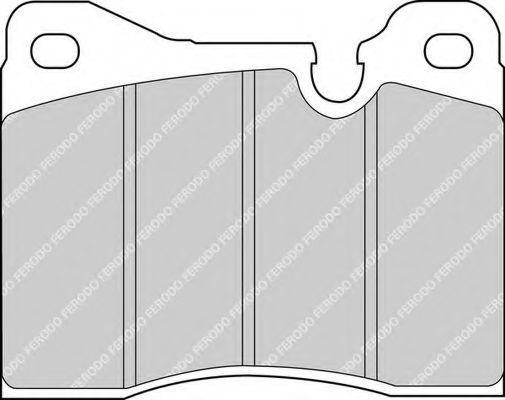 Комплект тормозных колодок, дисковый тормоз FERODO FDB161