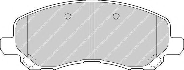 Колодки тормозные передние FERODO FDB1621