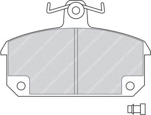Комплект тормозных колодок, дисковый тормоз FERODO FDB194