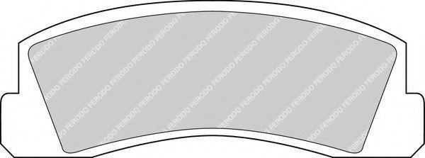 Колодки тормозные передние FERODO FDB 195