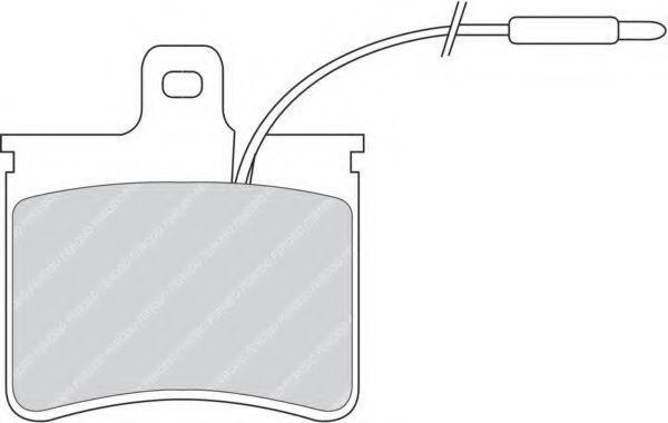 Комплект тормозных колодок, дисковый тормоз FERODO FDB272