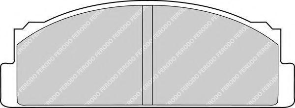 Колодки тормозные передние FERODO FDB  29