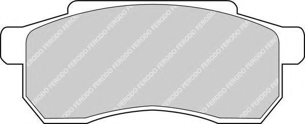 Комплект тормозных колодок, дисковый тормоз FERODO FDB305