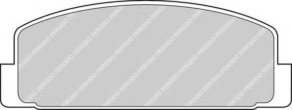 Колодки тормозные задние FERODO FDB372