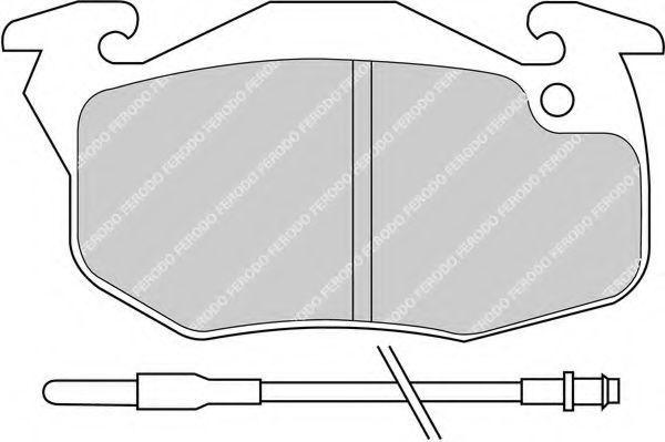 Колодки тормозные передние FERODO FDB 393