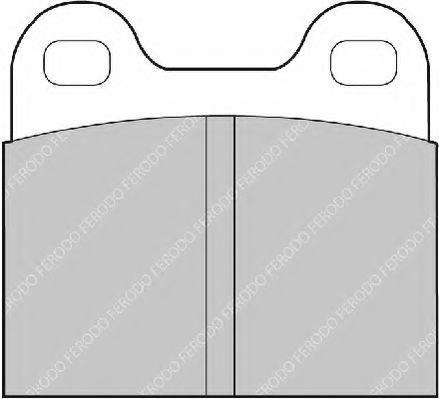 Комплект тормозных колодок, дисковый тормоз FERODO FDB3M