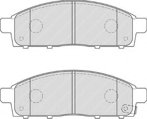 Колодки тормозные передние FERODO FDB4023