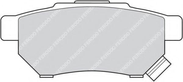 Колодки тормозные задние FERODO FDB621