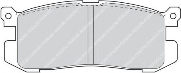 Колодки тормозные FERODO FDB630