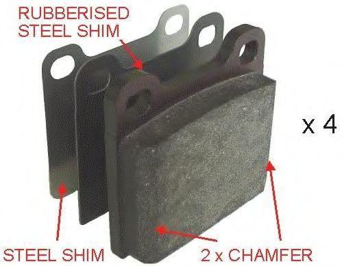 Колодки тормозные задние FERODO FDB704