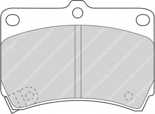 Колодки тормозные передние FERODO FDB715