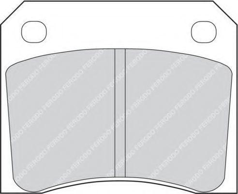 Комплект тормозных колодок, дисковый тормоз FERODO FDB815