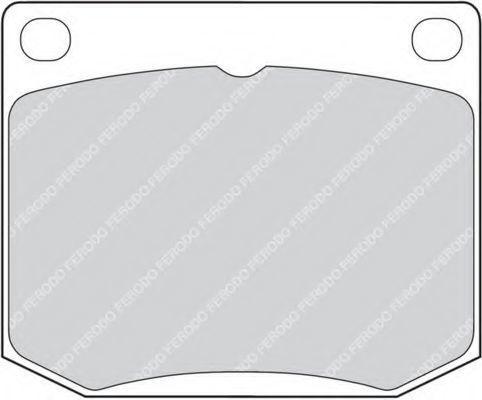 Комплект тормозных колодок, дисковый тормоз FERODO FDB818