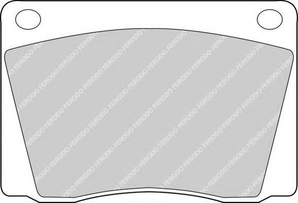 Комплект тормозных колодок, дисковый тормоз FERODO FDB9