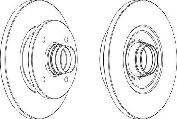 Тормозной диск FERODO DDF114