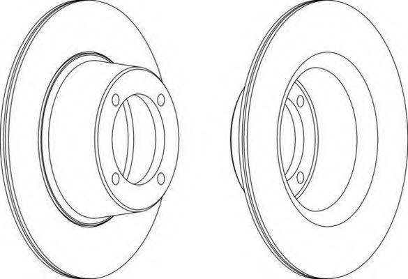 Тормозной диск FERODO DDF274