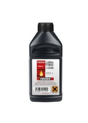 Изображение Тормозная жидкость DOT4 500мл FERODO FBX050: стоимость