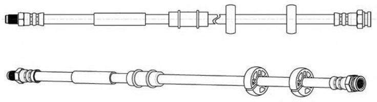 Тормозной шланг FERODO FHY2839