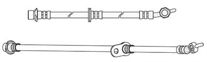 Тормозной шланг FERODO FHY2843