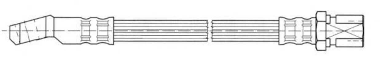 Тормозной шланг FERODO FHY2868
