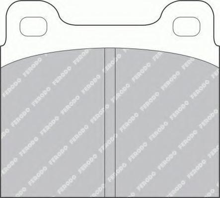 Комплект тормозных колодок, дисковый тормоз FERODO FSL2