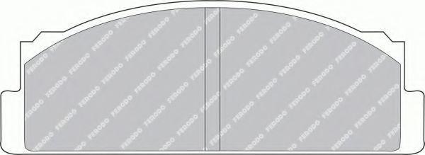Комплект тормозных колодок, дисковый тормоз FERODO FSL29