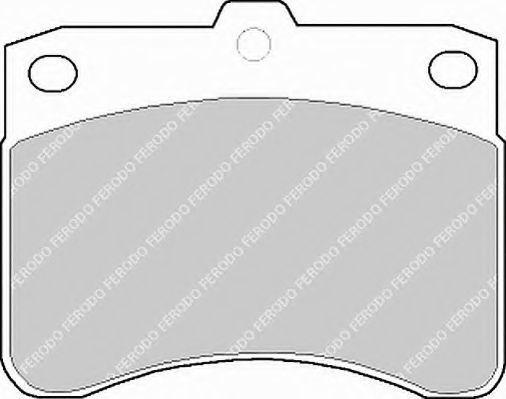 Комплект тормозных колодок, дисковый тормоз FERODO FSL549