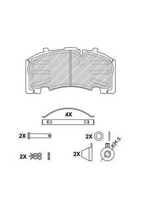 Купить Колодки тормозные грузовые FERODO FCV4584B