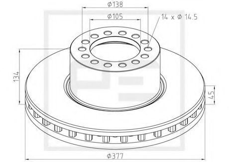 Диск тормозной PETERS ENNEPETAL 01666500A